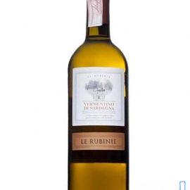 Вино Лє Рубіне Верментіно ді Сардинія DOC біле сухе, Le Rubinie Vermentino Sardegna DOC 0,75 л.