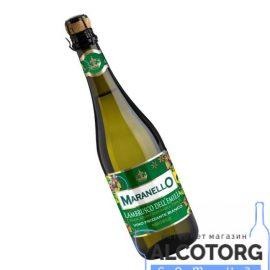 Вино ігристе Маранелло Ламбруско дельЕмілія Бьянко біле напівсолодке