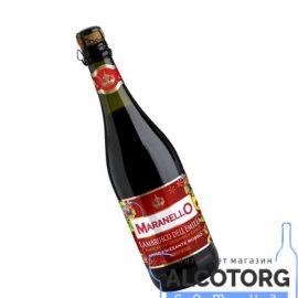 Вино ігристе Маранелло Ламбруско дельЕмілія Россо червоне напівсолодке, Maranello Lambrusco dell'Emilia Rosso 0,75 л.