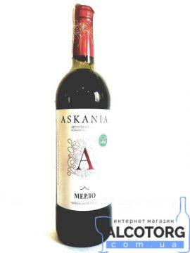 Вино Мерло Асканія червоне напівсолодке 0,75 л.