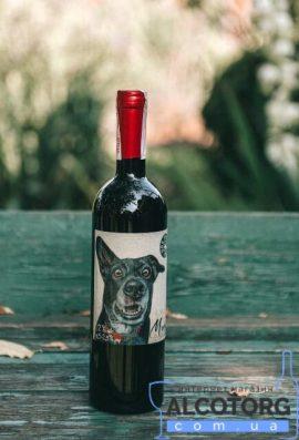 Вино Мерло червоне напівсухе Дог Смайл Котнар