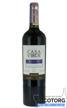 Вино Мерло Каса Верде червоне сухе