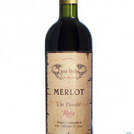 Вино Мерло Каса Вече красное полусухое, Merlot Casa Veche 0,75 л.