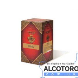 Вино Мерло столове сухе сортове червоне Амбассадор 10 літрів.