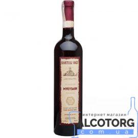 Вино Мукузані червоне сухе Картулі Вазі, Kartuli Vazi 0,75 л.