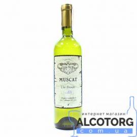 Вино Мускат Каса Віче біле сухе, Muscat Casa Veche 0,75 л.
