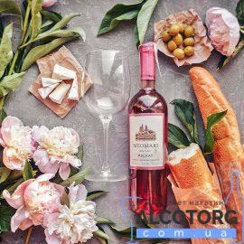 Вино Мускат Меомарі рожеве напівсолодке, Meomari 0,75 л.