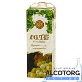 Вино Мускатне біле напівсолодке Марінталь 1 л.