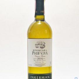Вино Кримська Ривьєра біле напівсолодке Інкерман 0,75 л.