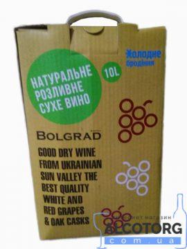 Вино Шардоне Болград Преміум сухе біле, Bolgrad 10 л.