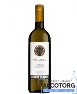 Вино Пiно Грiджiо Венето Моранера біле сухе