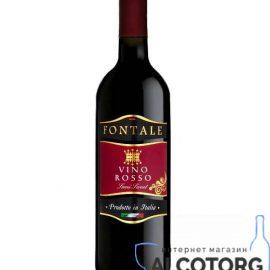 Вино Червоне напівсолодке Фонтале, Vino Rosso Semi Sweet Fontale 0,75 л.