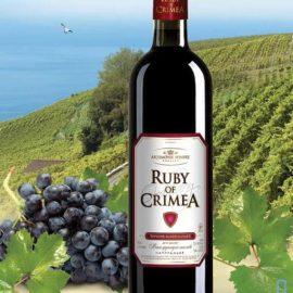 Вино Рубін Криму червоне напівсолодке