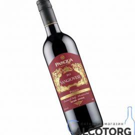 Вино Санджовезе ді Пулья Паскуа червоне напівсухе, Sangiovese di Puglia IGT Pasqua 0,75 л.