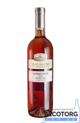 Вино Сапераві Бадагоні Рожеве сухе, Badagoni 0,75 л.