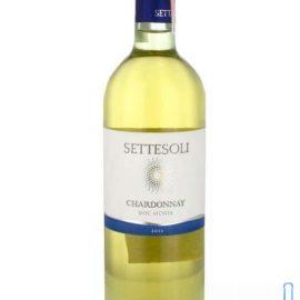 Вино Сеттесолі Шардонне біле сухе, Settesoli Chardonnay 0,75 л.