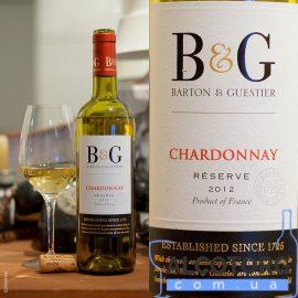 Вино Шардоне Резерв Бартон & Гестьє біле сухе, Chardonnay Reserve Barton & Guestier 0,75 л.