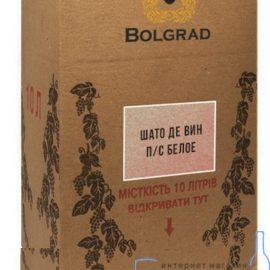 Вино Шато де він біле напівсолодке Болград 10 літрів.