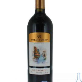 Вино Соло Корсо червоне напівсолодке, Solo Corso 0,75 л.