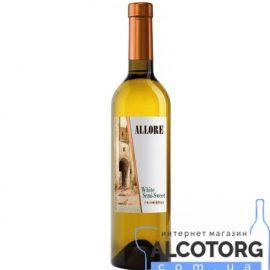 Вино Аллоре напівсолодке біле, Allore 0,75 л.