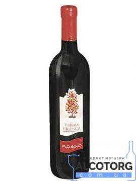 Вино Терра Фреска Россо червоне напівсухе, Terra Fresca Rosso 0,75 л.