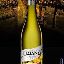 Вино Тіціано Біла Слива Біле Напівсолодке, Tiziano White Plum 0,75 Л.
