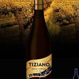 Вино Тіціано Чорна Смородина Червоне Напівсолодке, Tiziano Black Currant 0,75 Л.