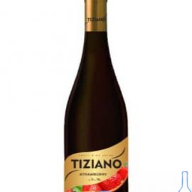 Вино Тіціано Полуниця червоне напівсолодке, Tiziano Strawberry 0,75 Л.