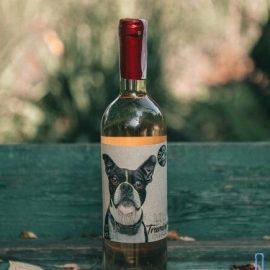 Вино Трамінер біле напівсухе Дог Смайл Котнар, Traminer Dog Smile Cotnar 0,75 Л.