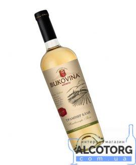 Вино Трамінер Блан Буковина біле напівсолодке, Bukovina 0,75 л.