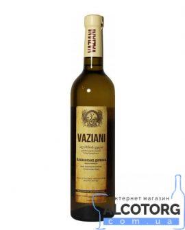 Вино Алазанська долина Вазіані біле напівсолодк, Vaziani 0,75 л.