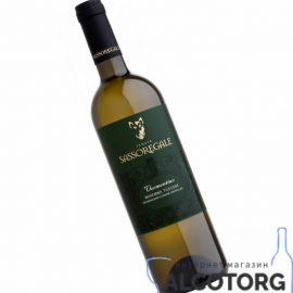 Вино Сассорегале Верментіно біле сухе, Sassoregale Vermentino I.G.T. 0,75 л.