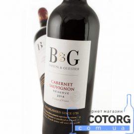 Вино Каберне Совіньйон Резерв Бартон & Гестьє червоне сухе, Cabernet Sauvignon Reserve Barton & Guestier 0,75 л.
