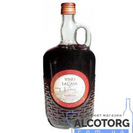 Вино Ла Каса Ізабелла червоне напівсолодке, Vino La Casa Isabella 1 л.