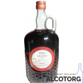 Вино Ла Каса Россо червоне напівсолодке, Vino La Casa Rosso 1 л.