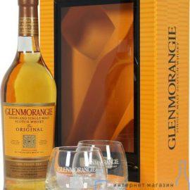 Віскі Гленморанджі Оріджинал в коробці + 2 склянки, Glenmorangie Original + 2 glasses 0,7 л.