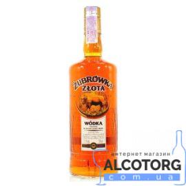 Горілка Зубровка Злота, Zubrowka Zlota 0,2 л.