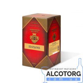 Вино Шардоне напівсухе біле Амбассадор 10 літрів.