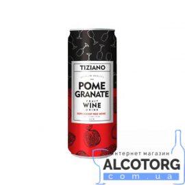 Напій винний слабоалкогольний ігристий Тіціано рожевий напівсолодкий зі смаком граната, Tiziano 0,25 л.