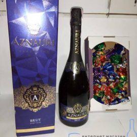 Шампанское Aznauri + Конфеты Аметист