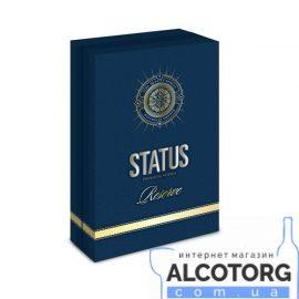 Горілка Статус Резерв сувенірна коробка з 3 рюмками, Status Reserve 0,7 л.