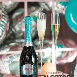 Шампанське Ореанда біле напівсухе, Oreanda 0,75 л.