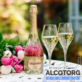 Шампанское Ореанда белое сладкое, Oreanda 0,75 л.
