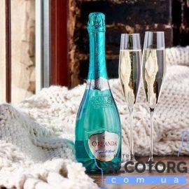 Шампанське Ореанда Крістал Брют біле, Oreanda Crystal Brut 0,75 л.