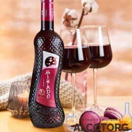 Вино Мікадо Гранат Червоне солодке, Mikado 0,7 л.