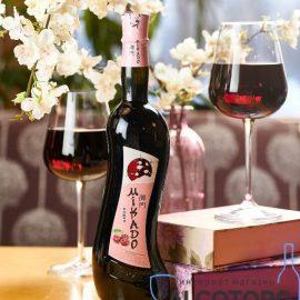 Вино Мікадо Вишня Червоне солодке, Mikado 0,7 л.