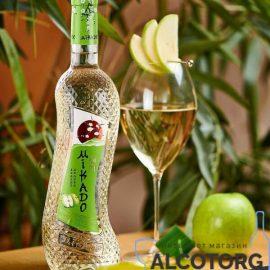 Вино Мікадо Зелене Яблуко Біле солодке, Mikado 0,7 л.