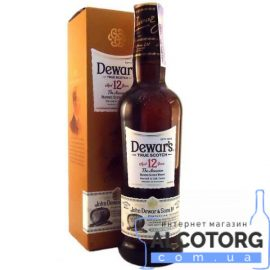 Виски Дьюар'с 12 лет, Dewar's 12 years old 1 л.