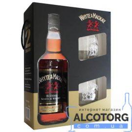 Виски Уайт энд Маккей + 2 бокала, Whyte&Mackay + 2 glasses 0,7 л.