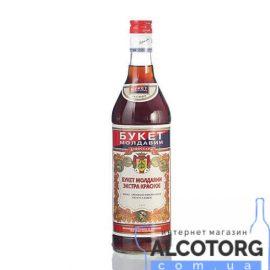 Вино червоне напівсолодке ароматизоване Букет Молдавії Екстра 0,5 л.